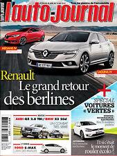 L'AUTO JOURNAL N° 932 . mai 2015 . MEGANE 4 / LAGUNA 4 / HYBRIDES RECHARGEABLES