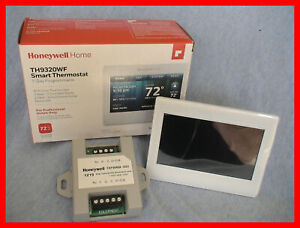 """Honeywell TH9320WF White WiFi SMART Color Thermostat with Add a """"C"""" Wire Module"""