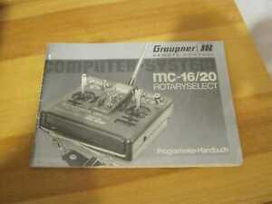 Graupner Anleitung  Sender MC 16/20 Programmierhandbuch