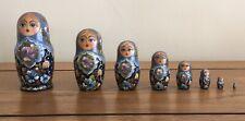 Incredible Vintage Ceprueb Nocag 8 Piece Matryoshka Russian Nesting Dolls Signed