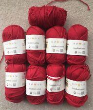 Rowan Handknit cotton 8 x 50g balls shade 215 red