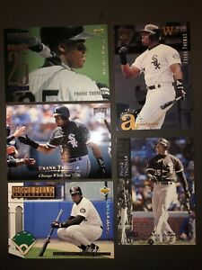 Frank Thomas five card lot Upper Deck all electric diamond parallel cards