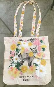 Beekman 1802 Canvas Goat Tote - Bag  -   BRAND NEW.