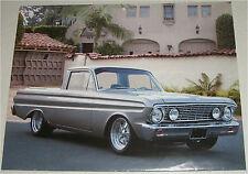 1964 Ford Falcon Ranchero car print (silver)