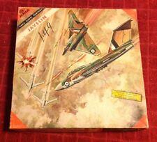 Rare Vintage Hawk JAVELIN Aircraft Air Plane Jet Model # 502 - 98 Kit Box Manual