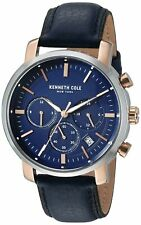 Kenneth Cole New York Men's Stainless Steel & Leather Quartz Watch KC50775002