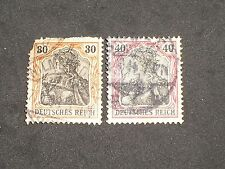 Germany Stamps 1900 a Selection of 2 High Values DEUTSCHES REICH VERY FINE USED