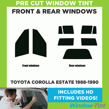 Pre Cut Window Tint - Toyota Corolla Estate 1988-1990 - Full Kit