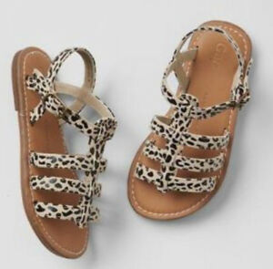 75% OFF AUTH GAP GIRL'S GLADIATOR LEOPARD SHOES SIZE 5/12-18 mos BNEW $29.95