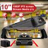 "10"" 1080P Car Rear View Mirror Camera Dash Cam Streaming Media Dual Lens DVR"