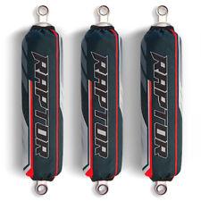 Grey / Red Shock Covers Yamaha Raptor YFM 250 350 660 R Special Edition (set 3)