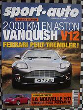 revue sport auto 2001 ASTON-MARTIN VANQUISH V12 / RENAULT CLIO RS / FORMULE 1
