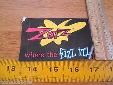 """1980s Zotz candy Fizz Izz VINTAGE sticker 3.5"""""""