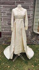 1960's Wedding Dress wIth Detachable Train Vintage Sm