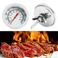 50-500 BBQ Smoker Grill Thermometer Temperature Gauge Stainless Steel