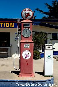 Vintage Fire Chief Gas Pump, Seaside, California - Giclee Photo Print