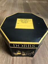 Vintage Dobbs Of Fifth Cardboard Octagonal Hat Box 15'' x 13''