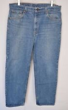Levis 505 Straight Fit Zip Fly Blue Denim Jeans Men's Tag 38x30, Actual 36x29