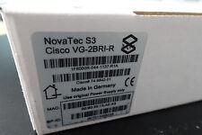 Cisco vg-2bri-r/Novatec s3 ISDN Gateway/SIP Gateway, NUOVO, nella sua confezione originale