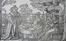 Hans Sebald Beham il figliol prodigo 2 sezioni in legno 16. secolo derschau