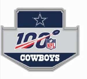 DALLAS COWBOYS 100TH ANNIVERSARY PIN SUPERBOWL CHAMP SUPER BOWL NFL SEASON