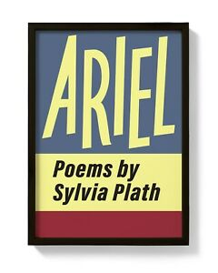 Ariel First Edition print, Sylvia Plath, The Bell Jar The Colossus Ariel, poetry