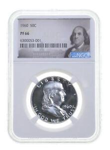 1960 PF66 Proof Franklin Half Dollar NGC Graded - White Coin Spot Free PR *0943