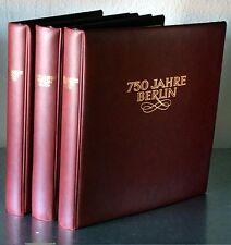 150 JAHRE BERLIN 3-Bändige Sammlung aus Spezialabonement mit Numisbriefen etc