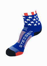 Steigen Stars and Stripes Half Length Performance Running and Cycling Socks