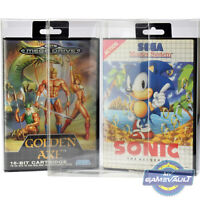 10 x Mega Drive Game Box Protectors 32X Master System STRONG 0.4mm Plastic Case