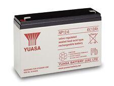 YUASA NP12-6 VRLA SEALED LEAD ACID BATTERY NEW