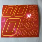 PINK CHROME w/Yellow  #0's Decal Sticker Sheet DEFECTS  1/8-1/10-1/12 RC Mo BoxD