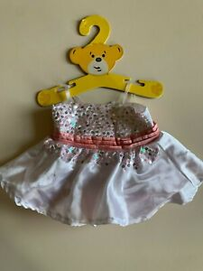 Build-A-Bear Workshop pink and white sequinned strappy dress