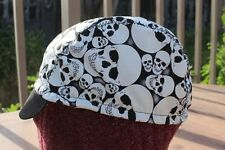 CYCLING CAP ONE SIZE SCARY SKULL GLOW IN THE DARK 100% COTTON HANDMADE