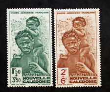 Timbre NOUVELLE CALEDONIE/NEW CALEDONIA stamp - YT Aériens 36 et 37 n* (Col3)