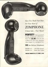 1954 Paper Ad Zimphone Deluxe Telephones Phones Jack Dempsey Boxing Gloves