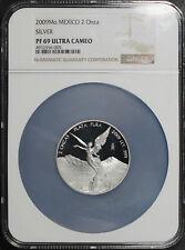 2009-Mo Mexico Silver Libertad 2 Onza NGC PF-69 Ultra Cameo