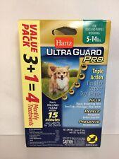 Hartz Ultra guard Pro Triple Drops Topical Flea & Tick Dog Puppy 5-14Lbs