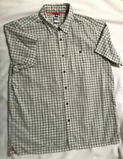THE NORTH FACE Mens S/Sl green & white Plaid Button Up Shirt-Size XL=EUC