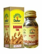 1 x Genuine Dabur BADAM TAIL Pure Almond Oil 50ml for Hair Care & Body Massage
