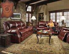 Sofa and Glider Loveseat Reclining-Corinthian-100% Genuine Italian Leather Match