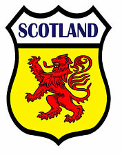 1 x Scotland Shield Flag Decal Car Motorbike Laptop Window Sticker Saltire