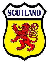 2 x Scotland Saltire Shield Flag Decal Car Motorbike Laptop Window Stickers