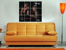 """2pac - All Eyes on Me 36""""x32"""" Inch Mosaic Wall Poster Hip Hop Rap Tupac"""