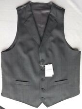 "Mans grey flannel wool waistcoat Charles Tyrwhitt Jermyn St 44"" chest XL NEW"
