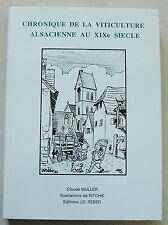 Chronique de la Viticulture Alsacienne au XIXè Siècle C MULLER & RICHIE éd REBER