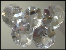Crystal Octagon A-Grade 14mm 2 Hole Clear x 10 - suncatcher octagons