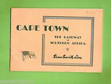 #D179. 1963  SHAW SAVILL LINE SHIPPING TOURIST BOOK FOR CAPE TOWN