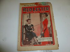 """RED LETTER Comic - Vol 46 - No 21 - Date 09/10/1943 - UK """"WOMAN"""" Paper Mag"""