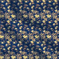 Premium-Baumwolle mit Blumenmuster 44 Zoll breit von der Werft